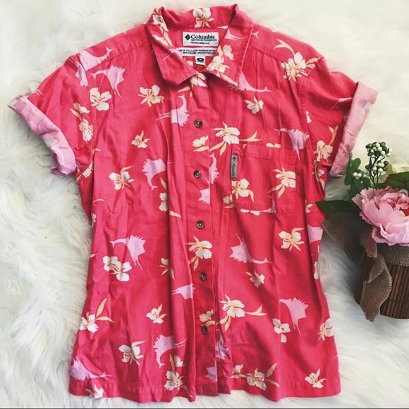c53054d7 Columbia Tops | Vintage 90s Hawaiian Shirt | Poshmark